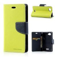 Pouzdro Wallet - Xperia L - zelené/tmavě modré