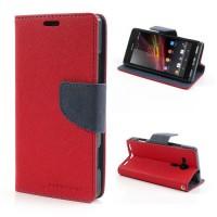 Pouzdro Wallet - Xperia SP - červené/tmavě modré