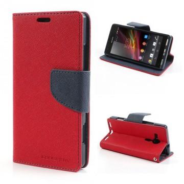 Pouzdro Fancy Diary - Xperia SP - červené/tmavě modré