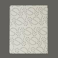 Koženkové pouzdro pro iPad 2-3-4 - Bílé se štrasem