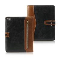 Luxusní pouzdro s přezkou pro iPad 2-3-4 - černé/hnědé