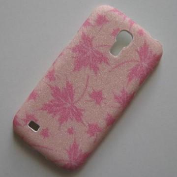 Zadní kryt/Obal Galaxy S4 Mini i9190 - Třpytivé podzimní listí - Růžové/Světle Růžové