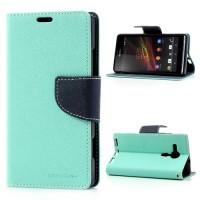 Pouzdro Wallet - Xperia SP - tyrkysové/tmavě modré