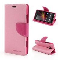 Pouzdro Wallet - Xperia SP - růžové/fuchsia