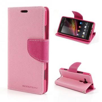 Pouzdro Fancy Diary - Xperia SP - růžové/fuchsia