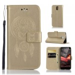Pouzdro Nokia 3.1 - lapač snů - zlaté