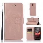 Pouzdro Nokia 3.1 - lapač snů - růžové
