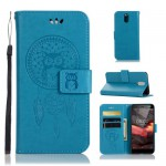 Pouzdro Nokia 3.1 - lapač snů - modré