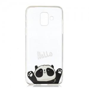 Pouzdro / Obal Galaxy A6 2018 - Průhledné - Panda 02
