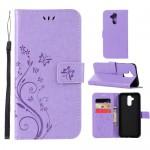 Pouzdro Huawei Mate 20 Lite - květy - světle fialové