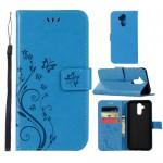 Pouzdro Huawei Mate 20 Lite - květy - modré