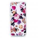Gelový obal Nokia 5.1 - průhledný - Květy 03