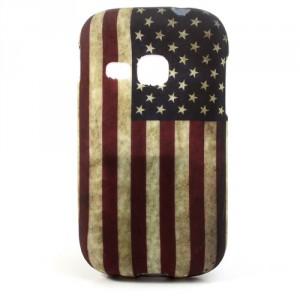 Pouzdro/Obal - Galaxy Young S6310 - Vlajka USA Vintage