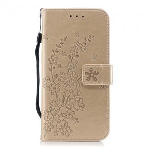 Pouzdro Huawei P20 Lite - zlaté květy