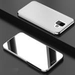 Pouzdro Galaxy A6 2018 - zrcadlové stříbrné