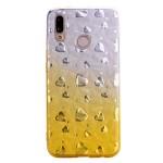 Gelový obal Huawei P20 Lite - třpytivý se srdíčky - zlatý