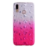 Gelový obal Huawei P20 Lite - třpytivý se srdíčky - růžový