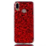 Gelový obal Huawei P20 Lite - třpytivý - červený