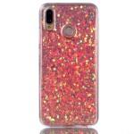 Gelový obal Huawei P20 Lite - třpytivý - růžový