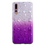 Gelový obal Huawei P20 Pro - třpytivá srdíčka - fialová