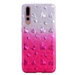 Gelový obal Huawei P20 Pro - třpytivá srdíčka - růžová