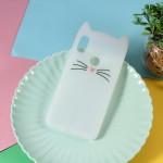 Gelový obal Xiaomi Redmi Note 6 Pro - Bílá kočka
