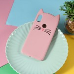 Gelový obal Xiaomi Redmi Note 6 Pro - Růžová kočka