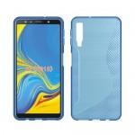 Gelový obal S-Curve Galaxy A7 2018 - modrý