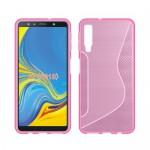 Gelový obal S-Curve Galaxy A7 2018 - růžový