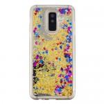 Obal Galaxy A6+ 2018 - Zlaté tekuté třpytky