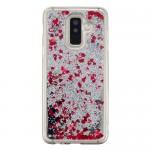Obal Galaxy A6+ 2018 - Stříbrné tekuté třpytky