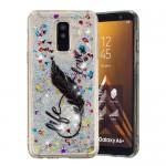 Obal Galaxy A6+ 2018 - tekuté třpytky - Life, love