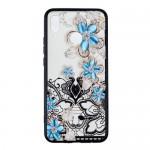 Obal Huawei Nova 3 - průhledný - Květy 05
