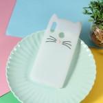 Obal Huawei Nova 3 - bílá kočka