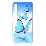 Gelový obal Galaxy A7 2018 - průhledný - Motýli
