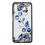 Gelový obal Galaxy A7 2018 - průhledný - Květy 04