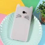 Gelový obal Galaxy J4+ 2018 - Bílá kočka