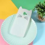 Gelový obal Galaxy J6+ 2018 - Bílá kočka