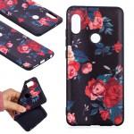 Pouzdro Xiaomi Redmi Note 5 - černé - květy