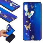 Pouzdro Xiaomi Redmi Note 5 - modré - motýli 02