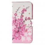 Koženkové pouzdro iPhone 7, iPhone 8 - Květy 03