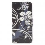 Koženkové pouzdro iPhone 7, iPhone 8 - Květy 04