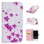 Koženkové pouzdro iPhone 7, iPhone 8 - 3D - Květy 01