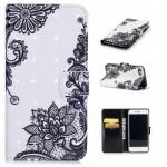 Koženkové pouzdro iPhone 7, iPhone 8 - 3D - Květy 02