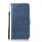 Pouzdro Huawei Nova 3 - Sloni - modré