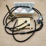 Sluchátka perlová - černá