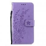 Pouzdro Huawei Nova 3 - Květy - fialové