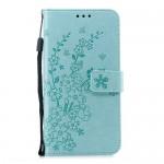 Pouzdro Huawei Nova 3 - Květy - tyrkysové