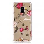 Pouzdro / Obal Galaxy A8 2018 - Průhledné - Květy 03
