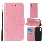 Pouzdro Galaxy A50 - Květy a motýli 02 - Růžové